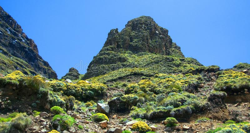 Lesotho, officieel het Koninkrijk van het landschap van Lesotho royalty-vrije stock foto