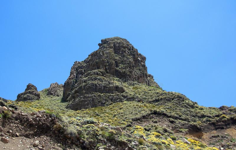 Lesotho, officieel het Koninkrijk van het landschap van Lesotho stock afbeeldingen