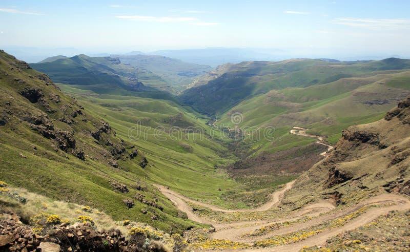 Lesotho, officieel het Koninkrijk van het landschap van Lesotho royalty-vrije stock afbeeldingen