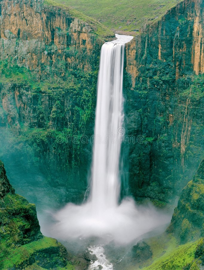 lesotho vattenfall fotografering för bildbyråer