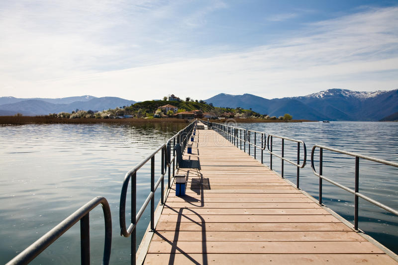 Lesser Prespa Lake royalty free stock photo