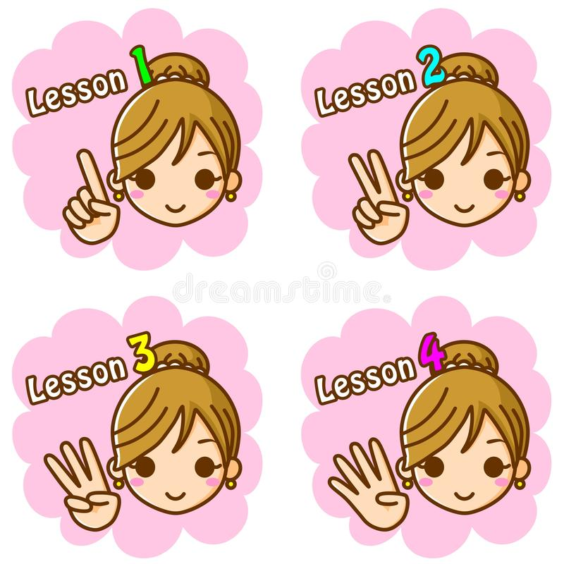 Download Lesson stock illustration. Illustration of young, smile - 23168986