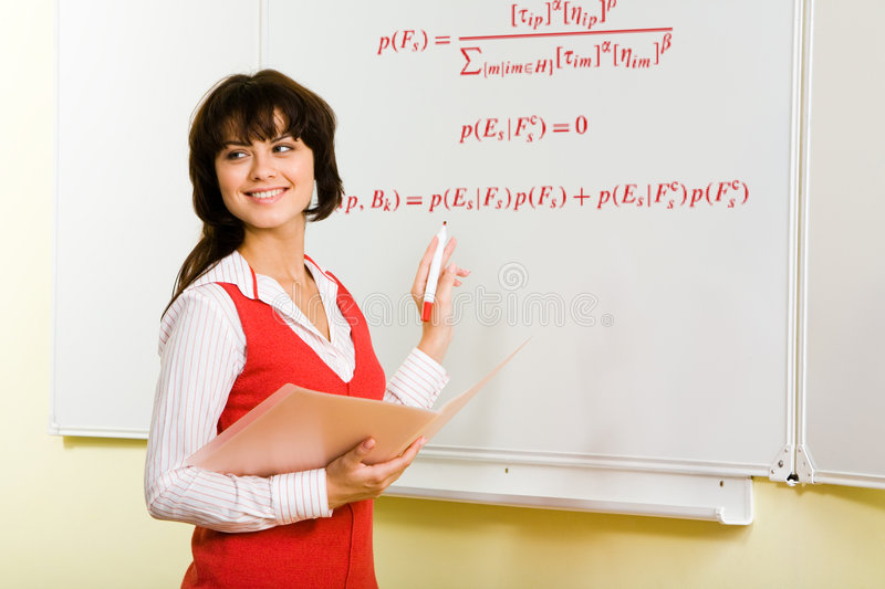 At the lesson stock photos