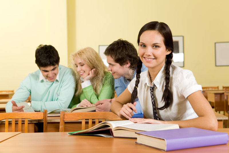 Download At the lesson stock image. Image of education, friend - 9267241