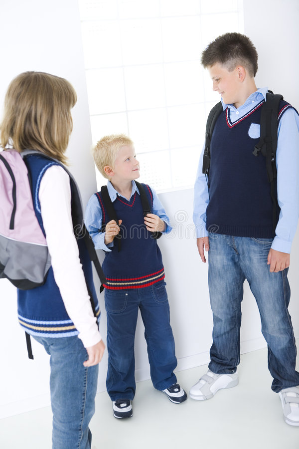 Download Lesson break stock image. Image of class, child, backpack - 6435917