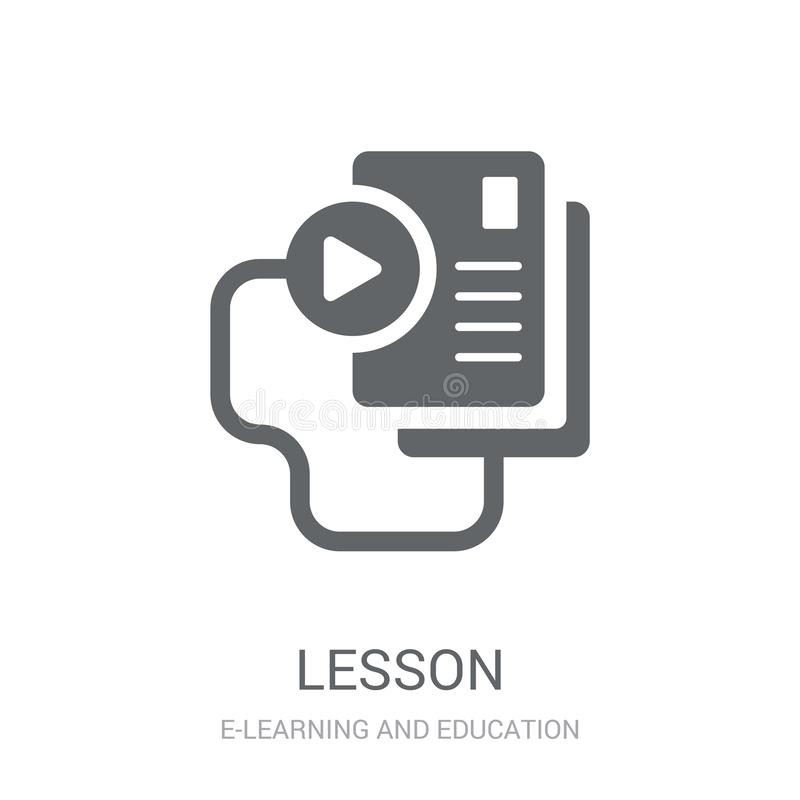 Lesson icon. Trendy Lesson logo concept on white background from stock illustration