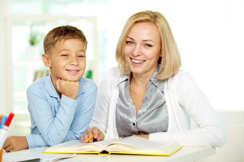 Download Lesson of literature stock image. Image of little, female - 24514117