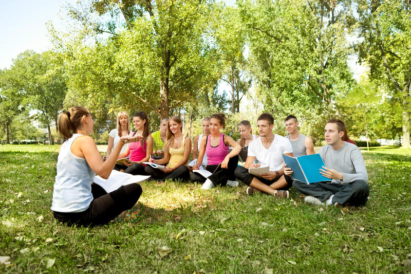Lesson outdoor stock photo