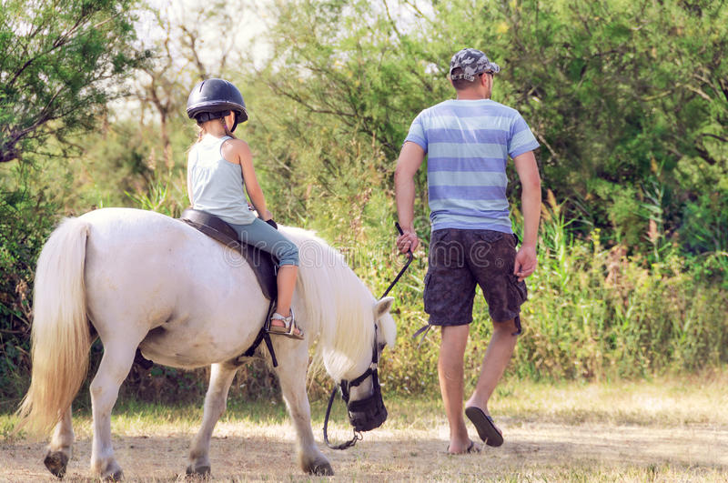Lesson with Riding Ins stock image