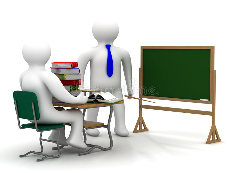 Download Lesson In A School Class. Royalty Free Stock Image - Image: 7252606