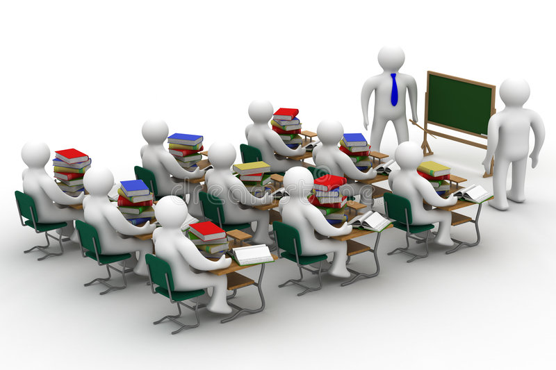 Download Lesson In A School Class. Stock Photo - Image: 8818640