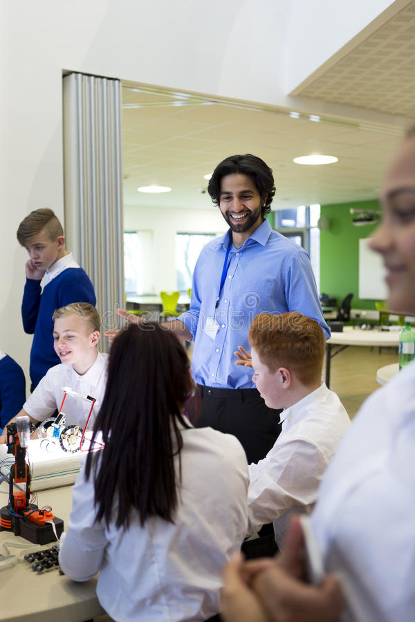 Lesson at School stock photos