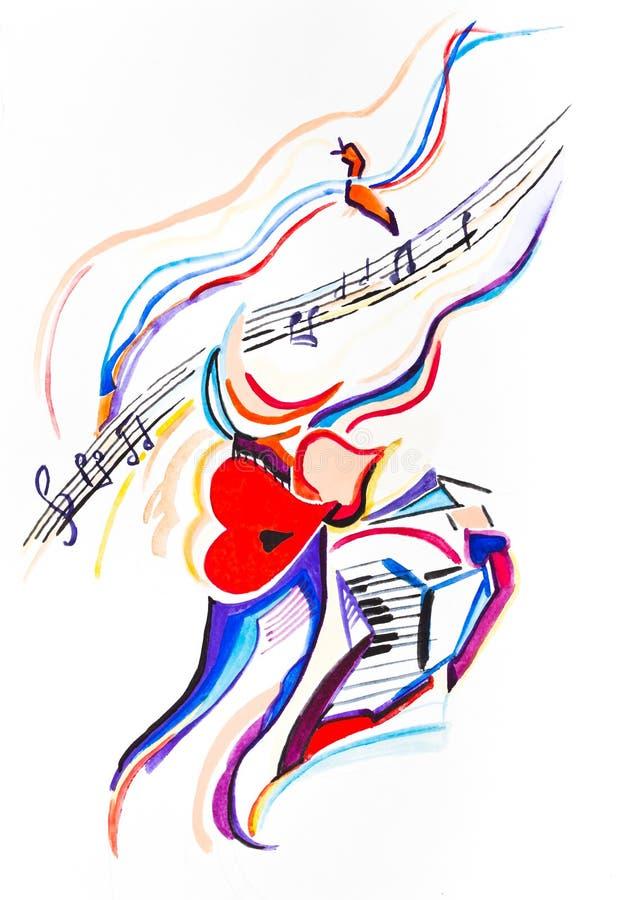 Download Lessons of a vocal stock illustration. Illustration of treble - 34132844