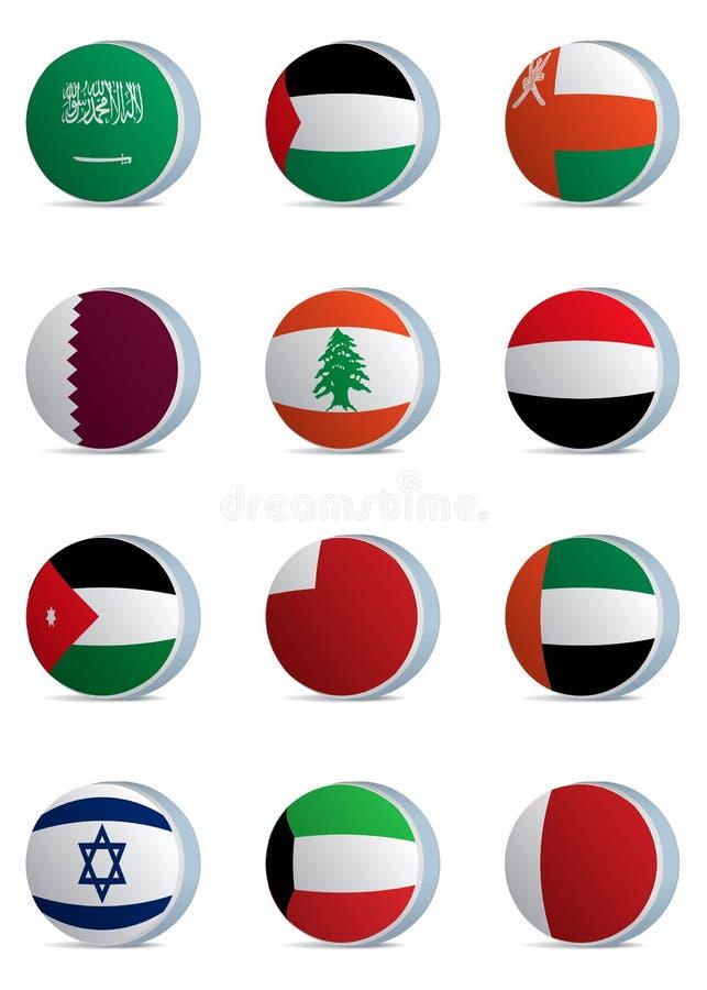 Leste bandeira-médio do país ilustração do vetor