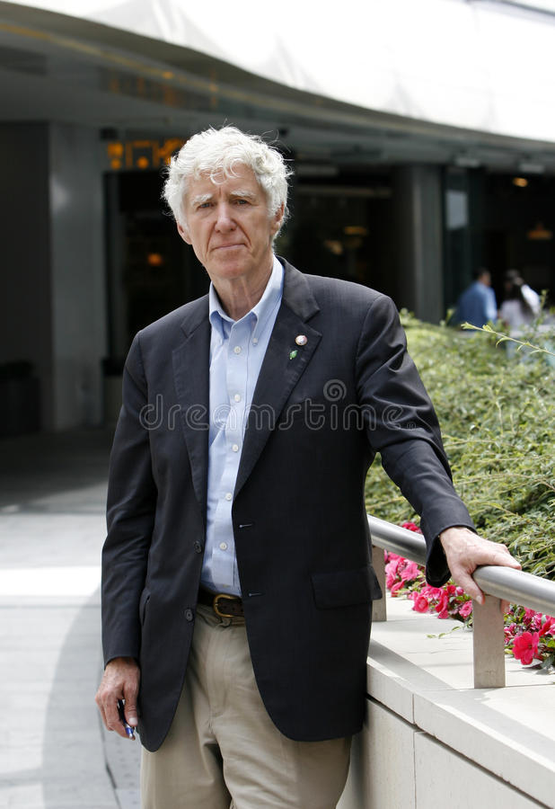 Lester Brown. Environmentalist and author Lester Brown during a visit to Istanbul to promote his new book Plan B 3.0 and to join a conferenece at Bilgi royalty free stock image