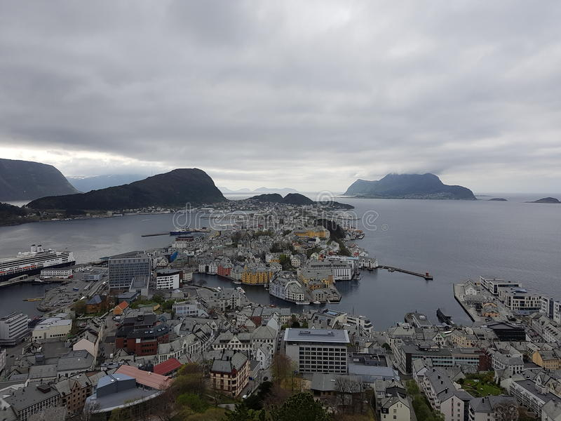 lesund挪威 免版税库存图片