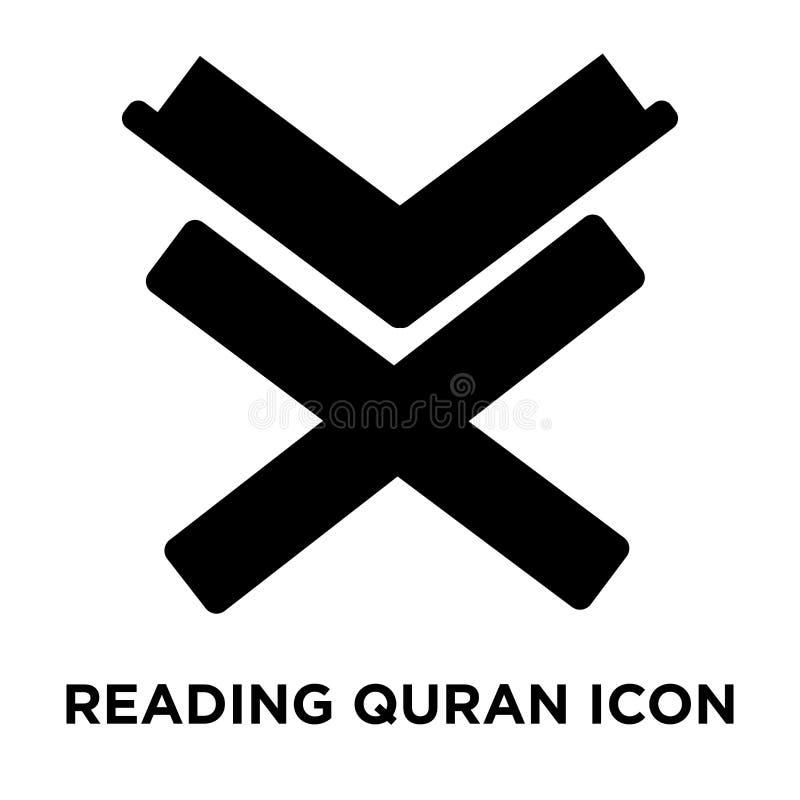 Lesungsquran-Ikonenvektor lokalisiert auf weißem Hintergrund, Logobetrug vektor abbildung