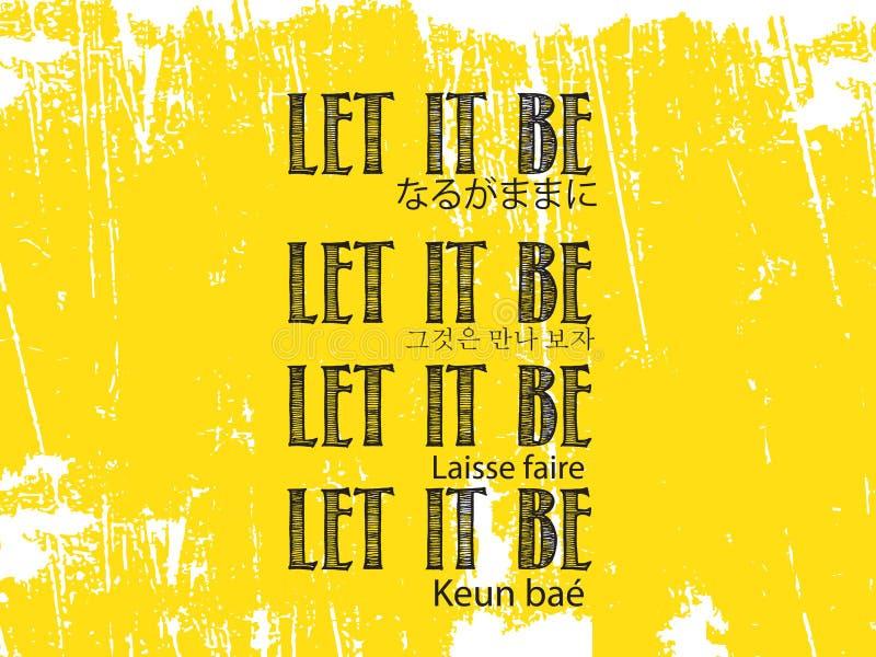 Let it be vector illustration