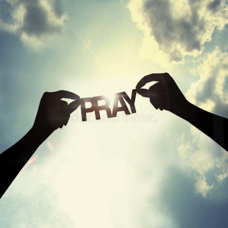 Let beten zusammen, lizenzfreie stockfotografie