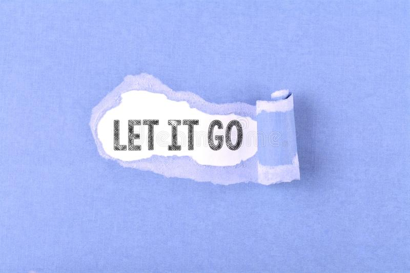 Let it go word stock photography