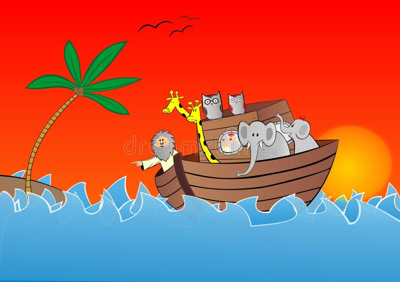 Noahs ark vector royalty free illustration