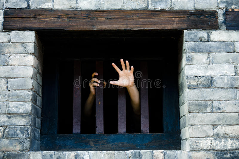 Let me out stock photography
