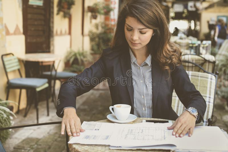 Let me see a business plans. stock photo