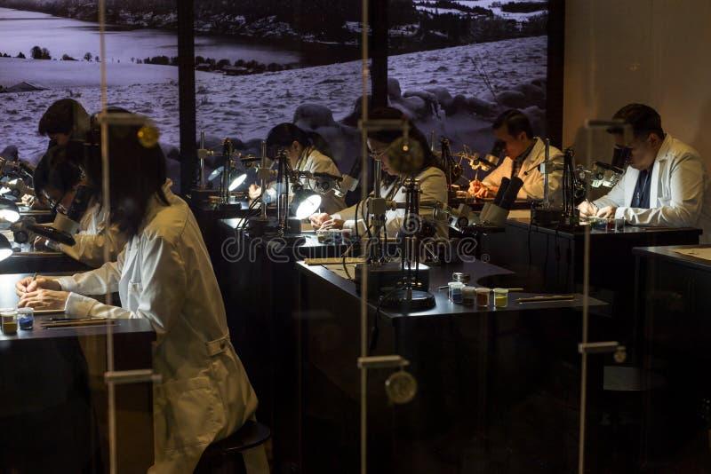 Let & is op de Eerste Tentoonstelling van Azië benieuwd Haute Horlogerie royalty-vrije stock foto