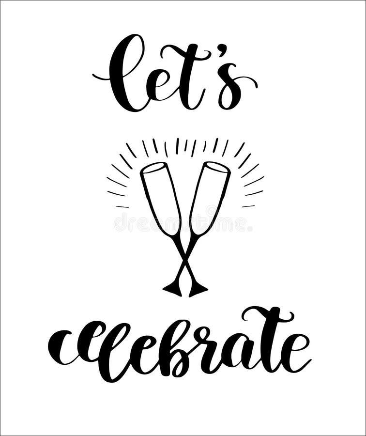 Let`s Celebrate card vector illustration
