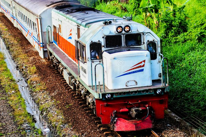 Let& x27; s che viaggia con il treno fotografia stock libera da diritti