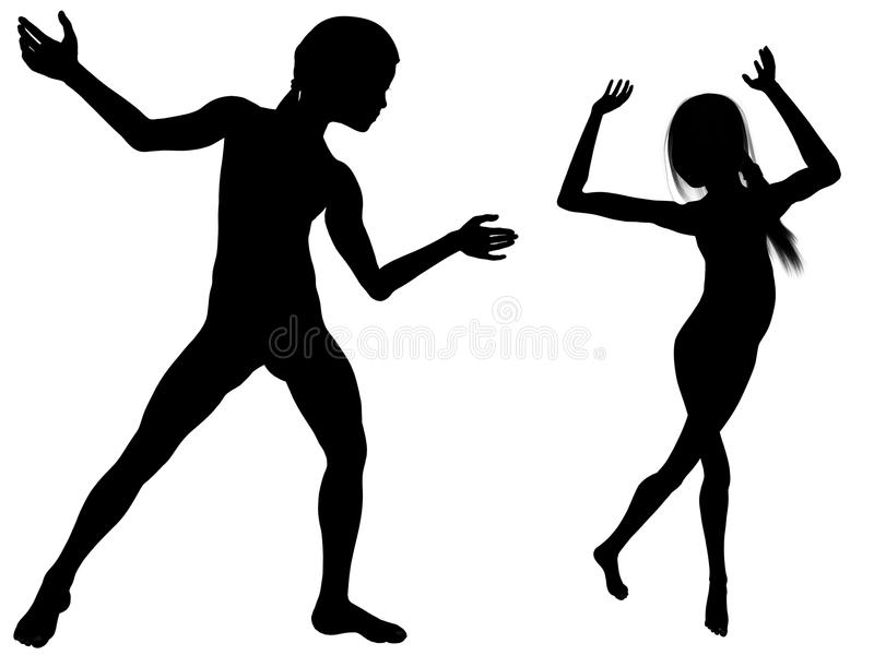 Let`s dance ! stock photography