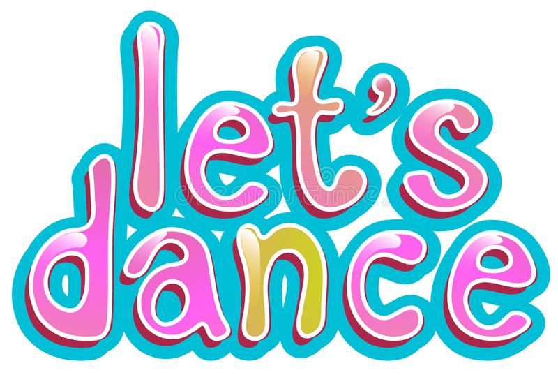Let`s dance icon on white background vector illustration