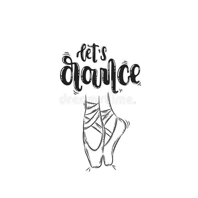 Let`s dance pointe royalty free illustration