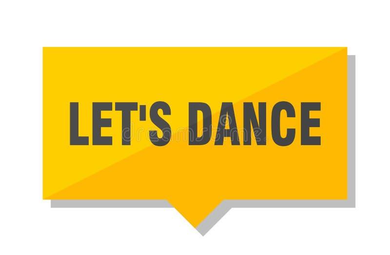 Let`s dance price tag stock illustration