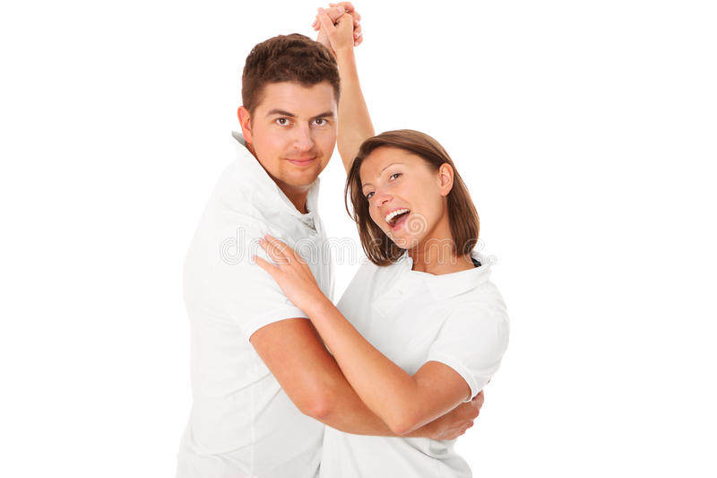 Let's dance together stock images
