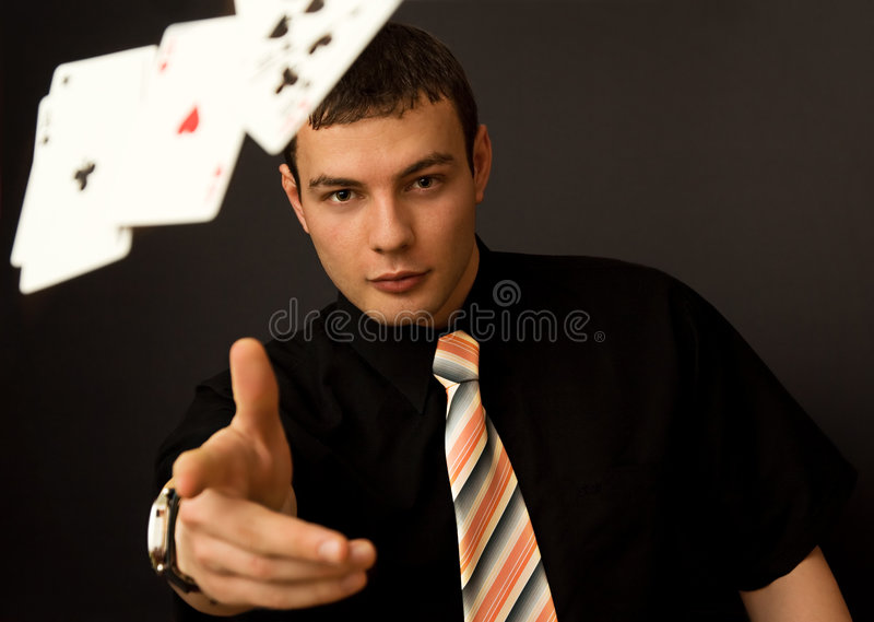 Download Let's Deal stock photo. Image of deck, clubs, watch, businessman - 4638404