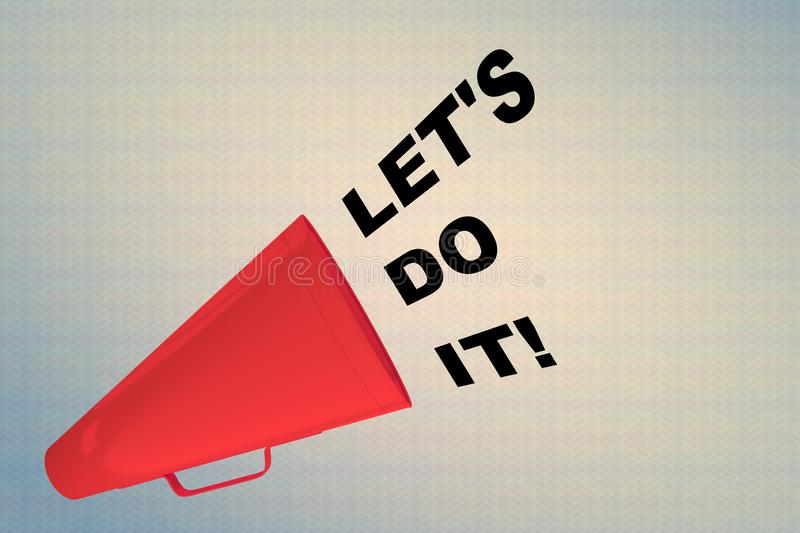 LET 'S DO IT! concept royalty free illustration