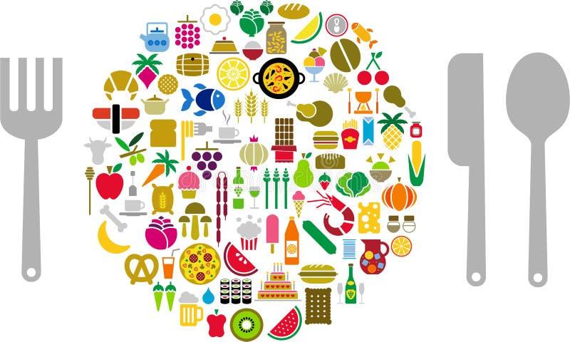 Let's eat! stock illustration