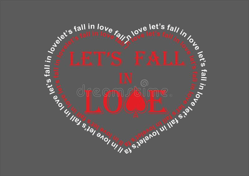 Let's fall in love royalty free stock photography