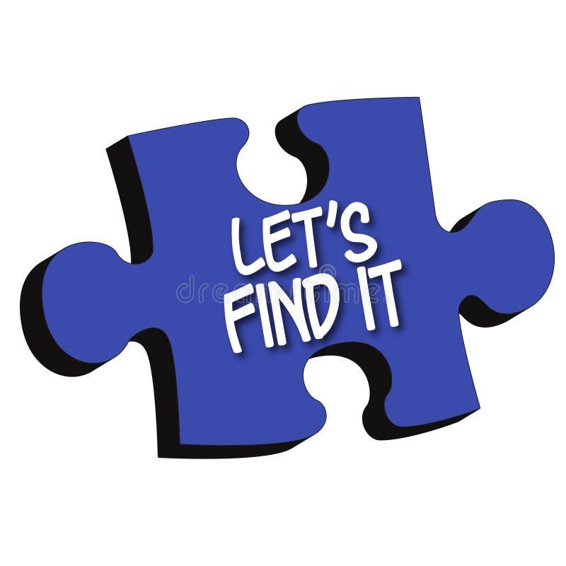 Download Let's Find It 3D Puzzle Piece Stock Illustration - Image: 5914629