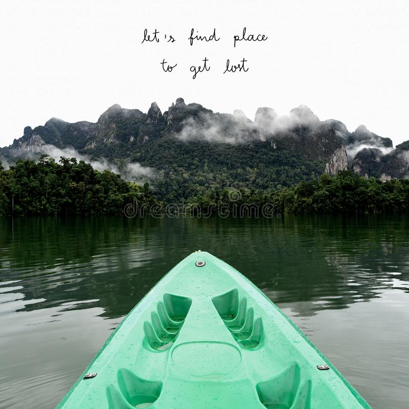 Let s find place to get lost with mountains view royalty free stock photography