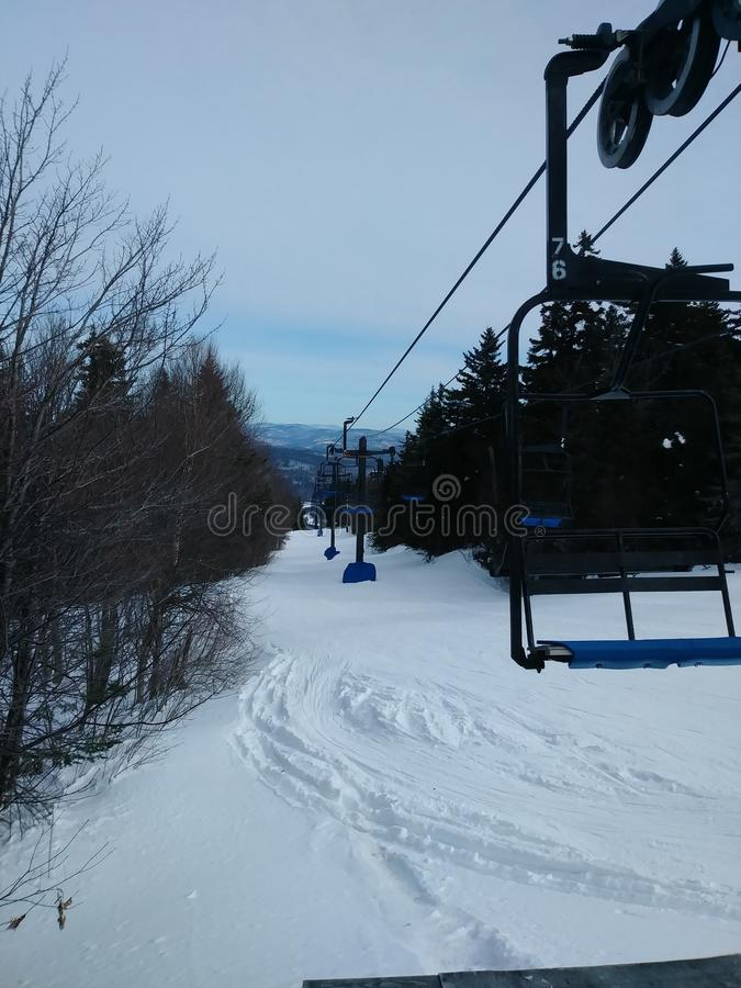 Let& x27; s gaat ski?end royalty-vrije stock foto