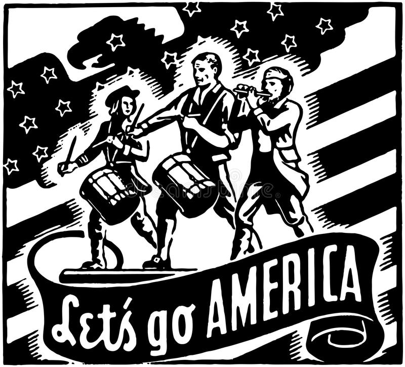 Let's Go America vector illustration
