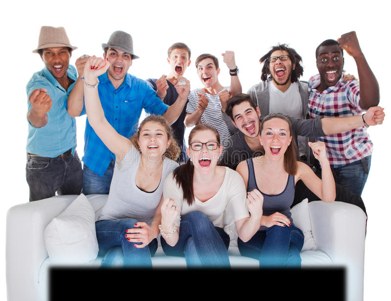 Let's go crazy and wild. stock image