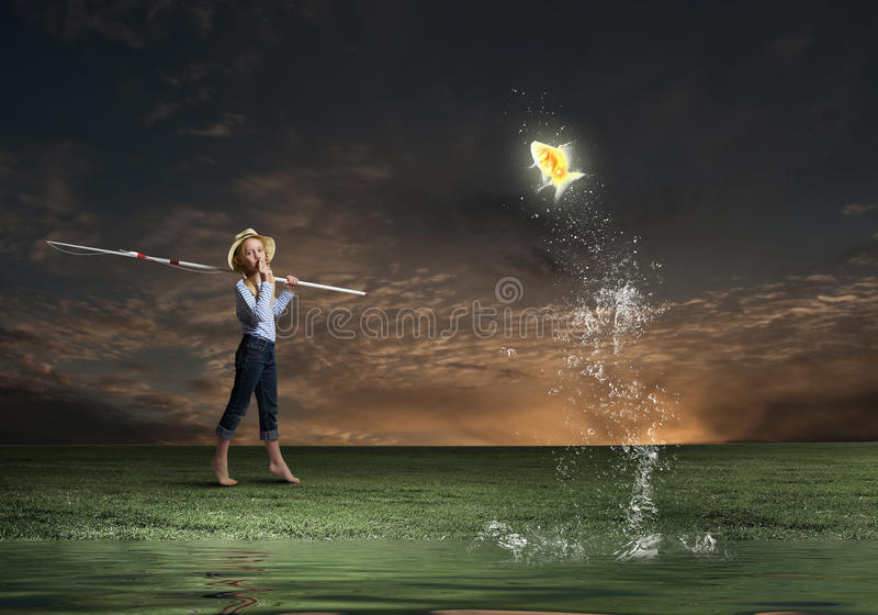 Let's go fishing stock photography