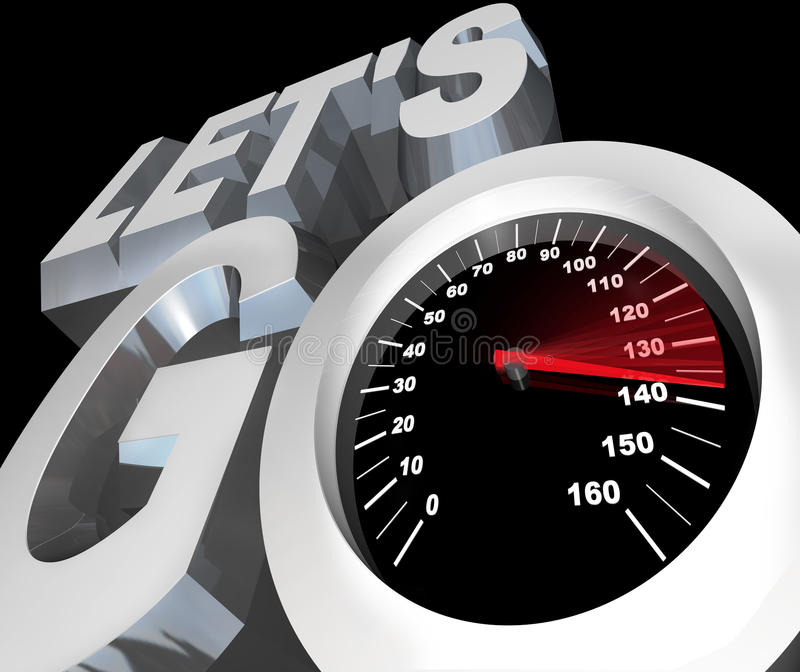 Download Let's Go Speedometer Excited Ready To Begin Start Stock Illustration - Image: 23408130