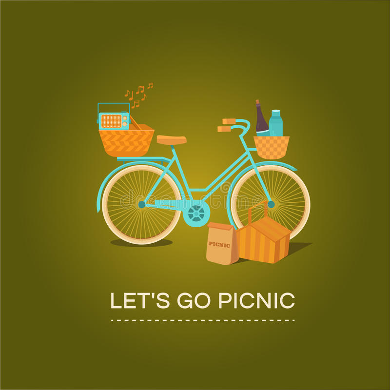Let's go to picnic royalty free illustration