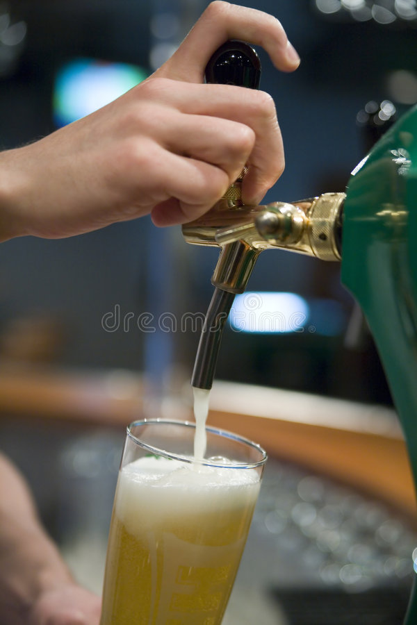 Let's have a beer stock photography
