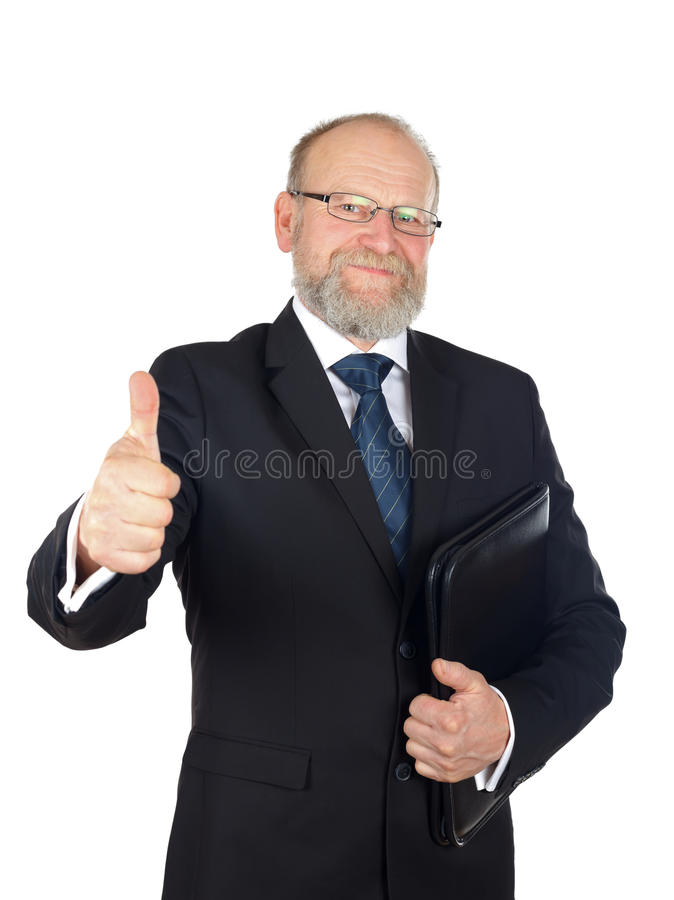 Let's have a business. Picture of a confident businessman after a good deal stock photography