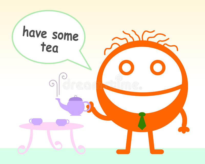 Let's have some tea stock illustration
